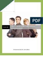 Entrepreneurship 30 - Unit 1 - Introduction to and Case Studies in Entrepreneurship