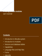 Creating Moodle Modules