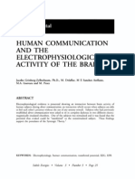 Human Communication and the Electrophysiological Activity of the Brain