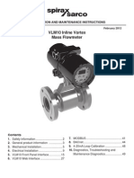 Manual Medidor de Flujo Vlm10 (Spirax Sarco) Ing