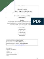simposio biopolítica, gobierno y subjetividad