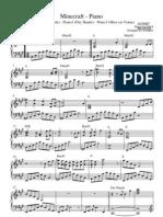 Minecraft Piano Sheet Music