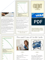 credit card brochure