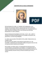 Juan Bautista de La Salle Biografia