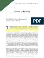 Culter Et Al 2006 - Determinants of Mortality JEP - Marked