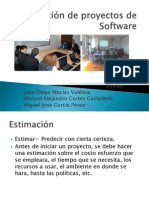 Estimación de proyectos de Software (1)