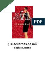 Te acuerdas de mí - Sophie Kinsella