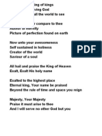 All to You the King of Kings