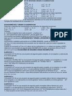 Ecuaciones de Segundo Grado o Cuadrc3a1ticas1