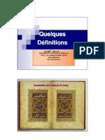1-Dfinition Du Terme Quraane