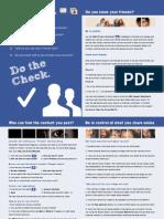 Facebook Checklist