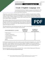 California Released Test Questions LA 2nd Grade