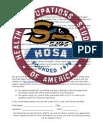 HOSA Registration Packet