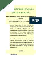 BRASINOESTEROIDES NATURALES Y ANÁLOGOS SINTÉTICOS