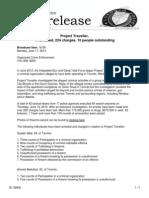 Project Traveller arrest details