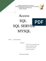 Trabajo de Access, SQL, SQL SERVER MYSQL