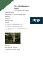 Solventless Laminator Nordmeccanica Simplex(1)