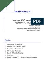 ASQ Mistake Proofing Presentation 021909