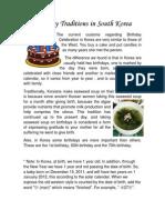 Tradiciones de cumpleaños en corea del sur