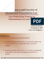 3 - Introduction to and Overview of IHL - Claude Bruderlein