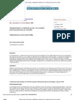 Revista Cubana de Psicología - Subjetividad y realidad social_ un modelo psicosocial para su estudio