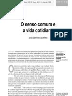 SESSÃO 2 - MARTINS - SENSO E VIDA COTIDIANA