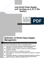 World Class Supply Mgmt