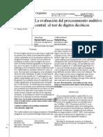 La Evaluacion Del Pac Test de Digitos Dicoticos