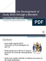 """Description & Analysis of """"Facilitating the Development of Study Skills through a Blended Learning Approach"""""""