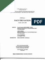 T2 B7 Lehman- Kerry on CBS Fdr- Transcript- 4-4-04 Face the Nation- Bob Schieffer Interview 654