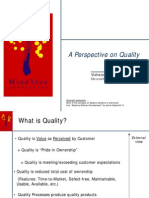 A Perspective on Quality