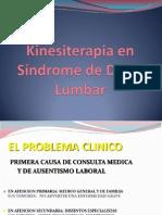 Kinesiterapia en Síndrome de Dolor Lumbar