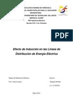 Efecto de Inducción en las Líneas de Distribución de Energía Eléctrica