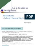 CAP 2.2 Extensiones de Calculo Multivariante.funciones Homogeneas