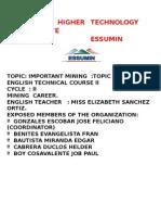 Ingles Minero (Inmportancia Minera)