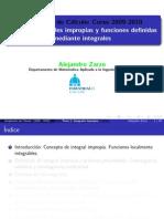 Clases. Ampliación de Cálculo. ETSI Industriales. Univ. Politéc. de Madrid. Zarzo, Alejandro. (2009 - 2010)
