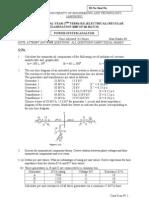 18-05 Power System Analysis (EL)
