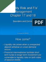 Liquidity Risk and FIs' Management