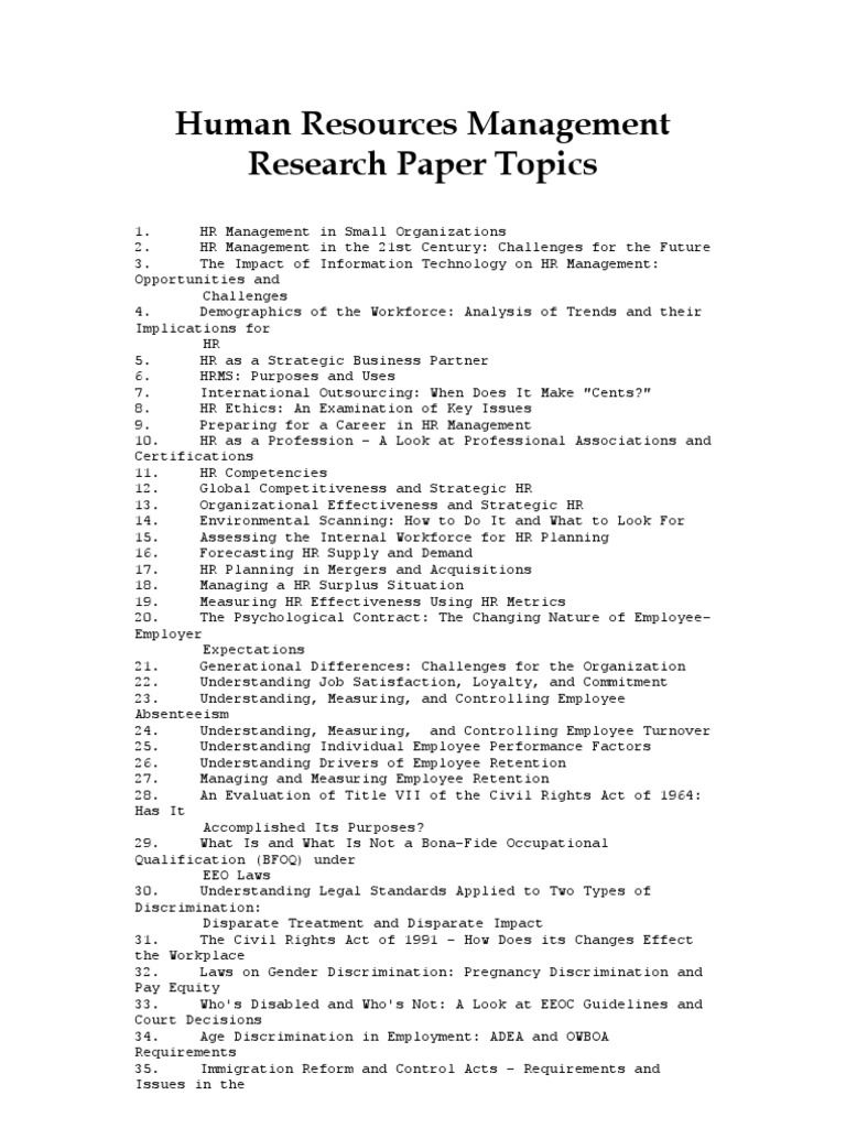 Long essay topics on human resource management systems analyst sample resume