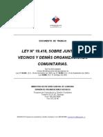 LEY N° 19.418, SOBRE JUNTAS DE