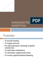 Nasogastric Tube Insertion, Feeding and Removal