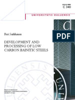 Development  and processing of low carbon bainite steel