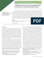Undersøgelse af ulves påvirkning af hjortes fitness og drægtighed. Videnskabelig artikel 2013.