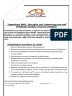 Supervisory Skills- Managing and Supervising Your Staff