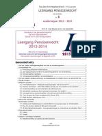Nieuwsbrief 5 Leergang Pensioenrecht 2012-2013