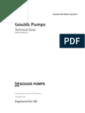 goulds residential pump guide pdf | Pressure | Horsepower