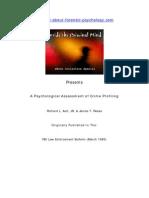Psychological Assessment of Crime Profiling