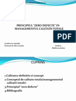 "Principiul ""0 defecte"" in managementul calitatii"