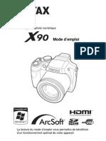 Mode d'Emploi Pentax x90