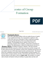 Theories of Group Formation